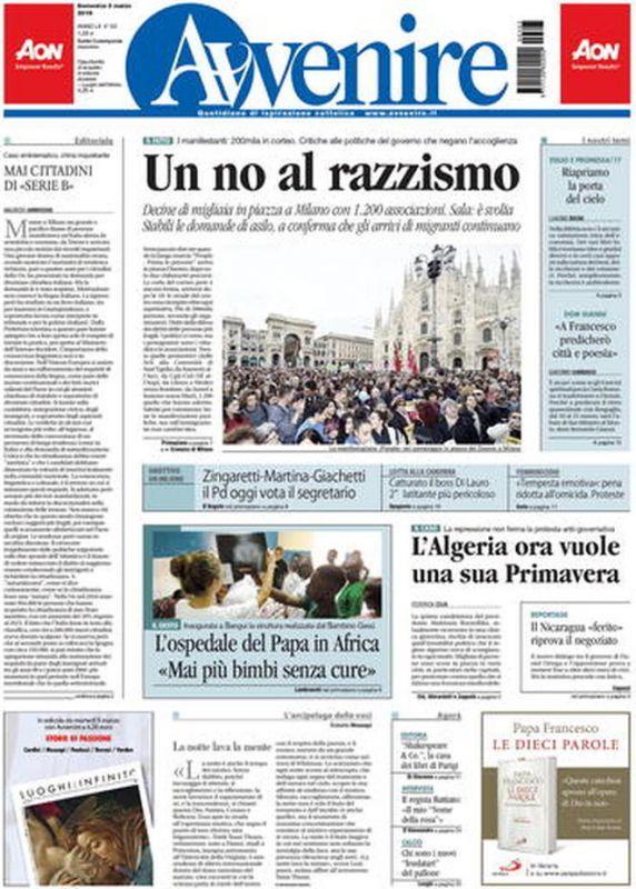DOMENICA 3 MARZO 2019 Prima Pagina - La stampa Nazionale e ... b4910708bddb