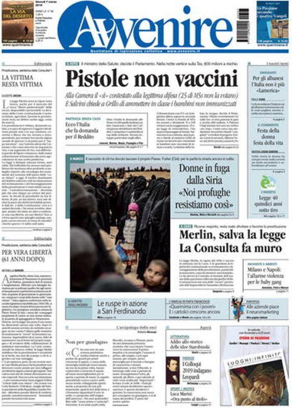 GIOVEDI  7 MARZO 2019 Prima Pagina - La stampa Nazionale e ... 2130c91c1ccc