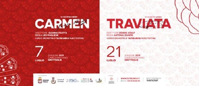 """prezzi al dettaglio stilista vasta selezione OLTRE LIRICA"""" alle Cave di Fantiano La Carmen e la Traviata in ..."""
