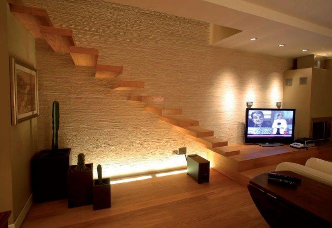 Ecco come vogliono la casa gli italiani resina illuminazione d atmosfera e wall paper - Luci a led per interni casa ...