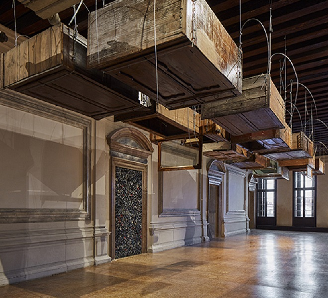 64e803895d Jannis Kounellis retrospective at Prada Foundation in Venice