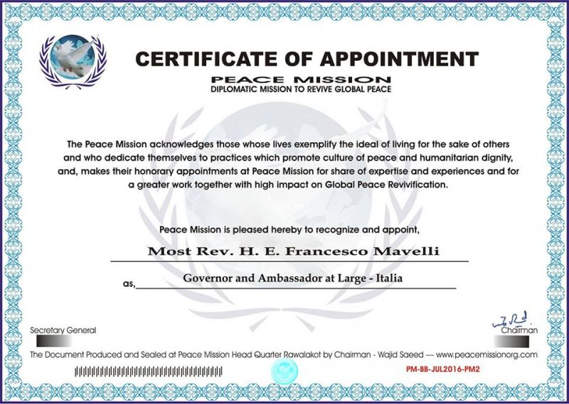 """A_Francesco_Mavelli,__la_rappresentanza_diplomatica_in_Italia_della__""""_Missione_Pace_Globale"""""""