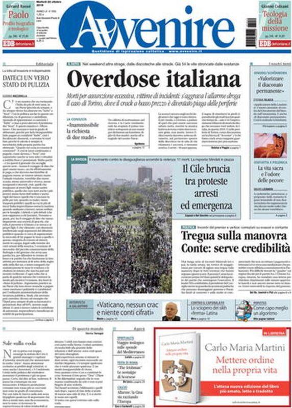 Martedi 22 Ottobre 2019 Prima Pagina La Stampa Nazionale E Internazionale International Web Post International Web Post